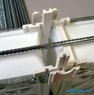 Horganyzott merevítő vasalat cm - Üvegtégla raktáráruház