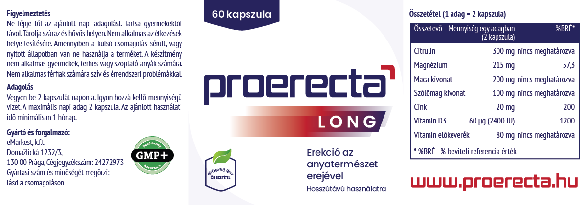 termékek hosszú erekcióhoz