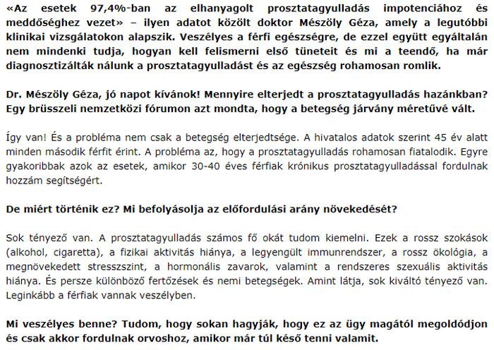 az erekciós prosztatagyulladás hiánya)